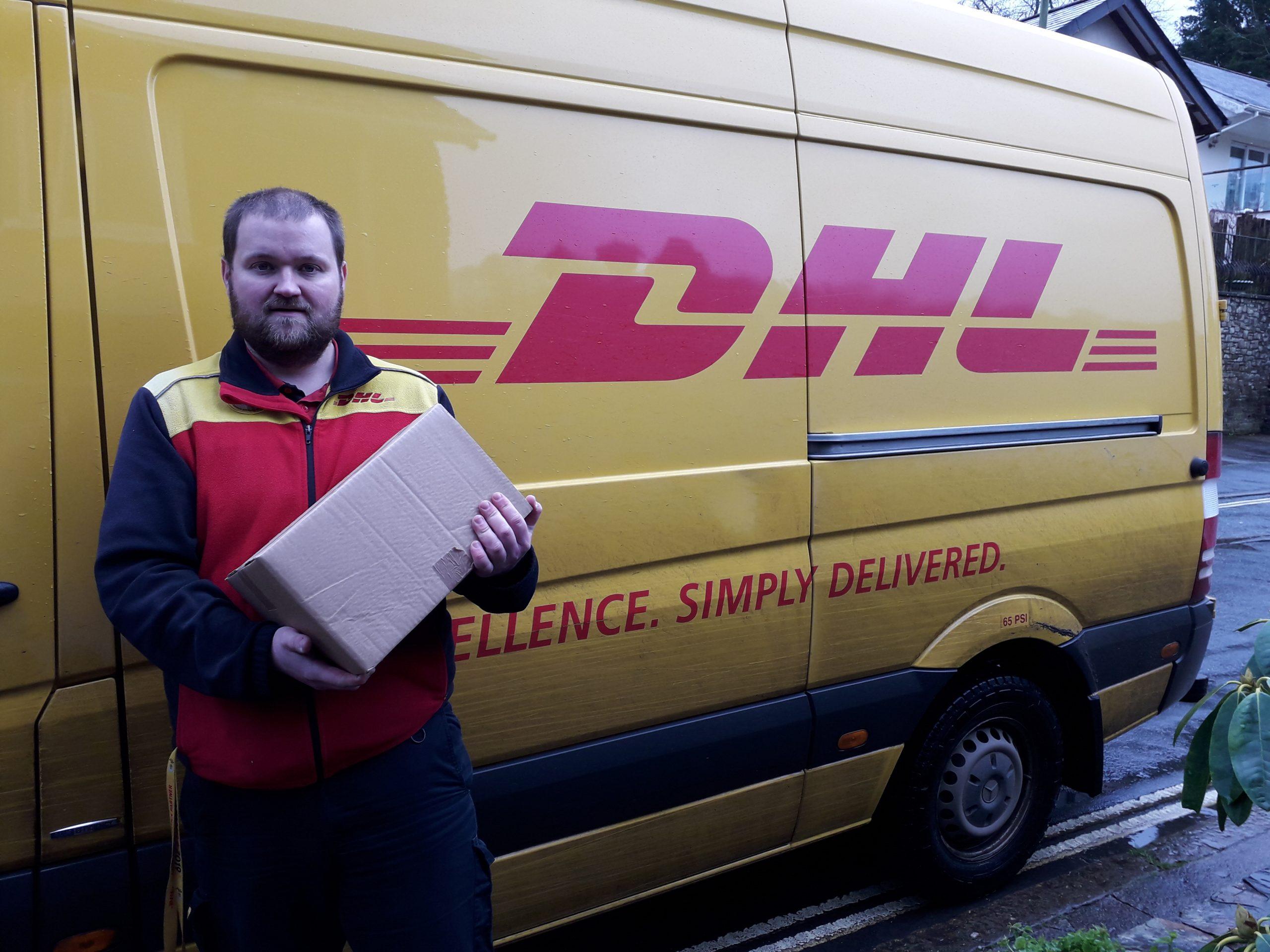 DHL driver & van