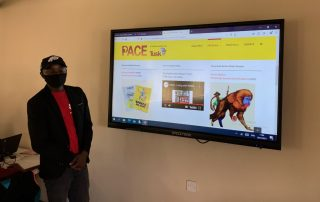 PACE website on monitor Lewa